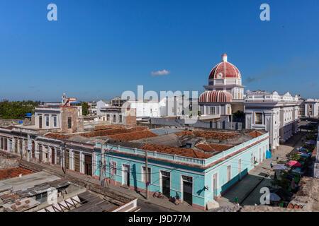 Antiguo Ayuntamiento, Heimat der Landesregierung Gebäude in Cienfuegos, UNESCO, Kuba, West Indies, Karibik - Stockfoto