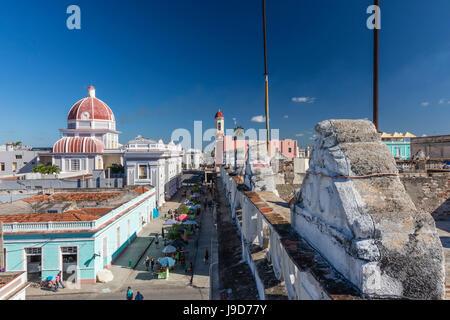 Antiguo Ayuntamiento, Heimat der Landesregierung Gebäude, UNESCO, Cienfuegos, Kuba, Karibik, Caribbean - Stockfoto