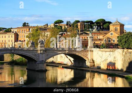 Fluss Tiber, Rom, Latium, Italien, Europa - Stockfoto