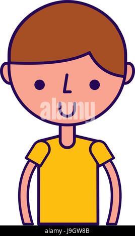 Oberkörper junge cartoon - Stockfoto