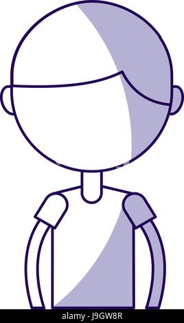 Schatten Oberkörper junge cartoon - Stockfoto