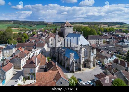 Frankreich, Aube (10), Vue Aerienne du Dorf des Riceys / / Frankreich, Aube (10), Aerial view von Les Riceys - Stockfoto