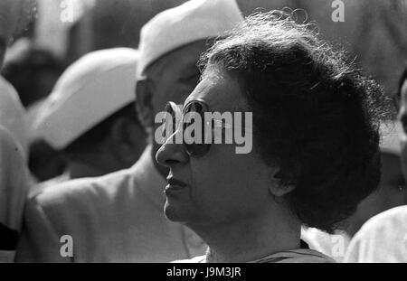 Libyscher Politiker, Premierminister von Indien, Indira Gandhi, Indien, Asien, NOMR - Stockfoto