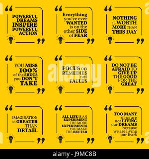 Satz Von Motivierende Zitate über Aktion Angst Mut Erfolg