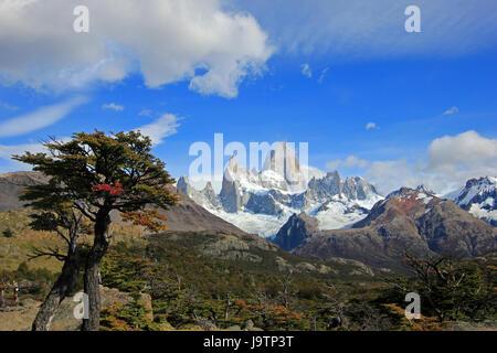 Mount Fitz Roy, Nationalpark Los Glaciares, Argentinien - Stockfoto