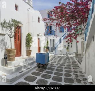 Street View, Mykonos - Stockfoto