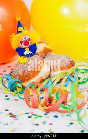 Krapfen mit clown - Stockfoto