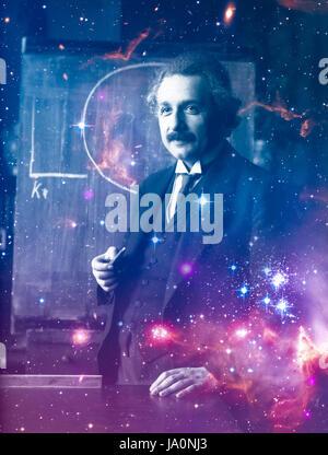 Albert Einstein 1921, abgebildet im Jahr gewann er den Nobelpreis für Physik. Stockfoto