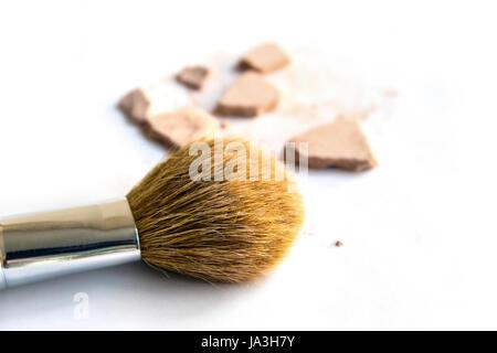 Pinsel, Lippenstift, Kosmetik, Schönheitspflege, Rouge, Pinsel, Bürsten, Schönheit, - Stockfoto