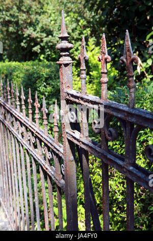 Garten Kohlenstoffarmen Stahl Rostig Thuringen Rost Zaun Zaun