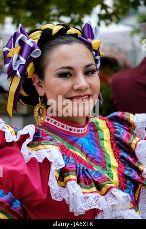 London, Ontario, Kanada. 4. Juni 2017. fiesta London! Mexikanischen Festival der Klänge, Kultur und Essen von Mexiko - Stockfoto