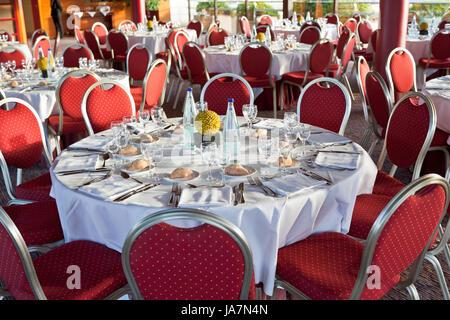 Restaurant, warten, warten, Halle, Glas, Kelch, Becher, Brot, groß, groß, - Stockfoto