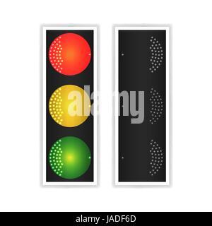 Ampel Licht Sequenz Vertikale Verkehrszeichen Mit Rot Gelb Und
