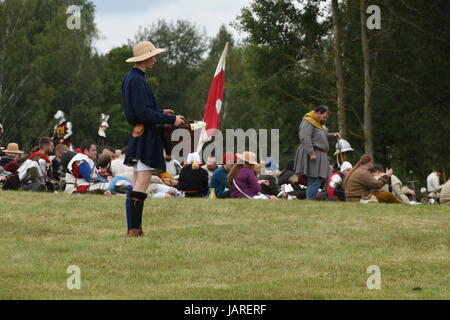 Schlacht von Grunwald. Clash des Deutschen Ritterordens, Polnisch und Litauisch - Squire wartet auf seinen Meister. - Stockfoto