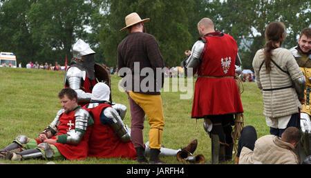 Schlacht von Grunwald. Kampf der Ritter Kreuzritter, Polnisch und Litauisch - Ritter während der Belagerung der - Stockfoto