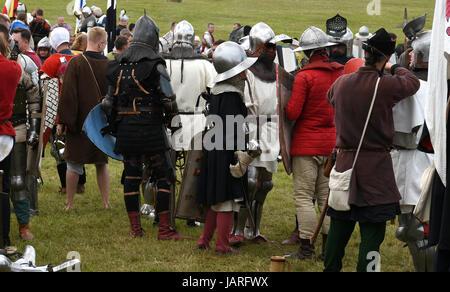 Schlacht von Grunwald. Zusammenstoß des Deutschen Ritterordens, Polnisch und Litauisch - warten auf die Ankunft - Stockfoto