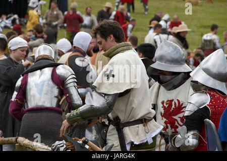 Schlacht von Grunwald. Zusammenstoß des Deutschen Ritterordens, Polnisch und Litauisch - schnelle Vorbereitungen - Stockfoto