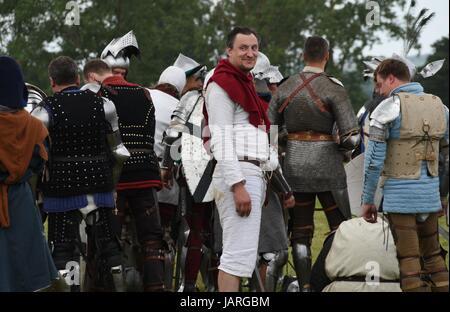 Schlacht von Grunwald. Zusammenstoß des Deutschen Ordens, Polnisch und Litauisch - Diener froh, das er vor der Schlacht - Stockfoto