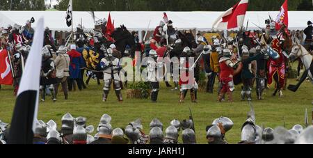 Schlacht von Grunwald. Zusammenstoß des Deutschen Ritterordens, Polnisch und litauisch - polnischen und litauischen - Stockfoto