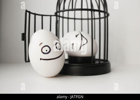 lustige gefangene im konzept stockfoto bild 91603768 alamy. Black Bedroom Furniture Sets. Home Design Ideas