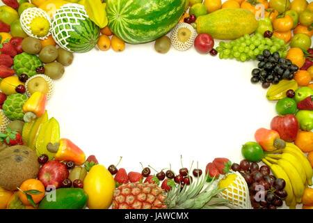 Tropische Früchte: Kaki, Mango, Papaya, Kokosnuss, Termine ...