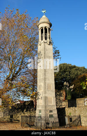 Mayflower denkmal Southampton - Stockfoto