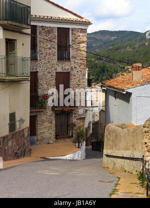 Gasse in Eslida ein Berg Villlage in der Provinz Castellon, Spanien - Stockfoto