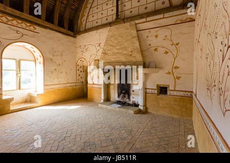 Frankreich, la Puisaye, Yonne (89), Treigny, Château de Guédelon, chantier de Construction d ' un Château Médiéval, - Stockfoto