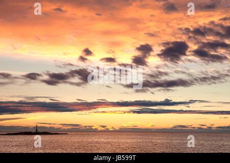Kroatien - bunten Himmel und Wolken nach Sonnenuntergang über Adria - Stockfoto