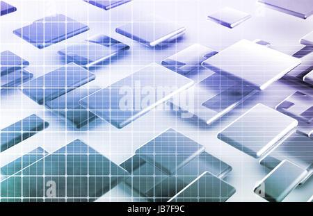 Innovation durch Web-Technologie und Daten-Kunst - Stockfoto
