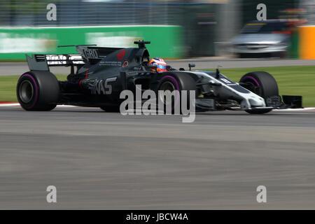 Montreal, Kanada. 10. Juni 2017. Formel 1-Fahrer Romain Grosjean in ein Qualifing Runde beim Grand Prix von Montreal. Bildnachweis: Mario Beauregard/Alamy Live-Nachrichten