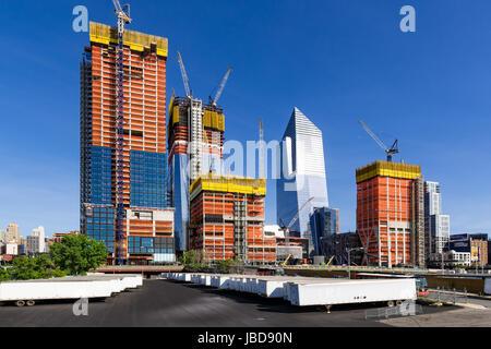 Der Hudson Yards Baustelle (2017). Midtown Manhattan, New York City - Stockfoto