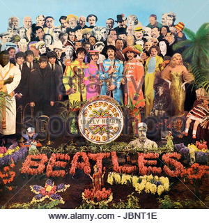 Cover der original-Vinyl-Album Sgt Peppers Lonely Hearts Club Band der Beatles - Stockfoto