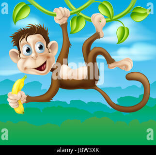 cartoon illustration der lustige banane frucht essen comic figur stockfoto bild 57146164 alamy. Black Bedroom Furniture Sets. Home Design Ideas