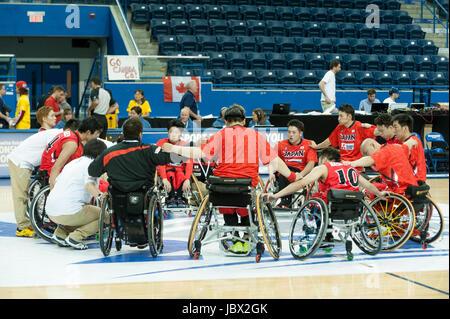 Südafrika Vs Japan während 2017 Herren U23 Rollstuhl Basketball-Weltmeisterschaft an Ryersons Mattamy Sportzentrum, - Stockfoto