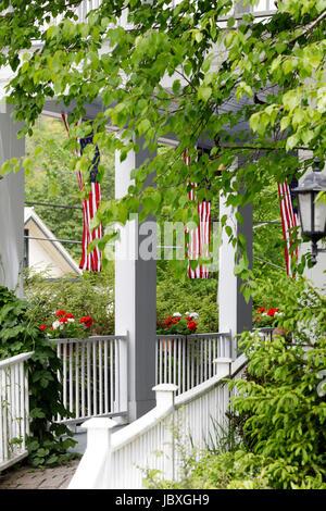 SHARON SPRINGS, NY, USA - 27. Mai 2017: The American Hotel, wie zum beliebten TV-Serie The Beekman Boys enthalten. - Stockfoto