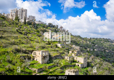 Jerusale m Israel bei Lifta. Lifta ist ein verlassenes palästinensischen Dorf. - Stockfoto