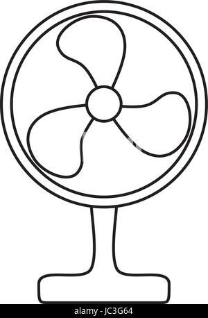Elektro-Lüfter bläst kalten Luft Stockfoto, Bild: 135726080 - Alamy