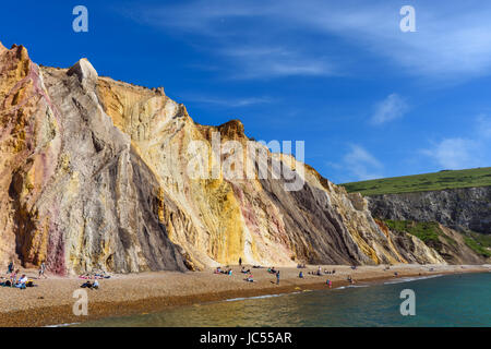 Alum Bay Sands, Isle Of Wight, Großbritannien - Stockfoto