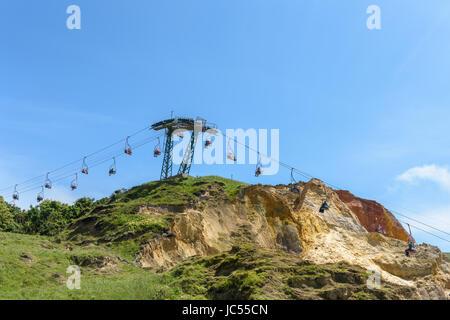 Sessellift, Alum Bay, Isle Of Wight, Großbritannien - Stockfoto