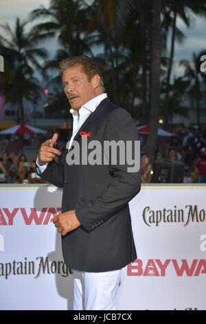 """Paramount Pictures Welt-Premiere von """"Baywatch"""" am Strand von Lummus Park Ocean Drive & 7th ST. in Miami Beach, - Stockfoto"""