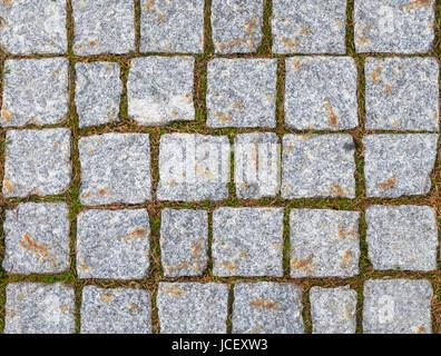 Textur der gepflasterten Straße. - Stockfoto
