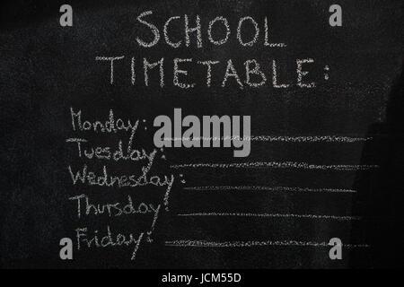Stundenplan mit Raumgestaltung. Unterrichtspläne alle Woche ...