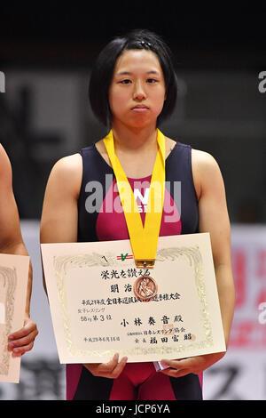 Nd Yoyogi Gymnasium, Tokio, Japan. 16. Juni 2017. Kanane Kobayashi, 16. Juni 2017 - Wrestling: Meiji Cup Stil alle - Stockfoto