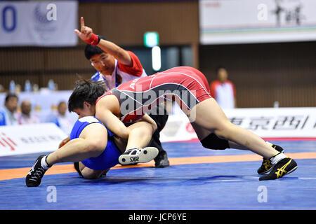 Nd Yoyogi Gymnasium, Tokio, Japan. 16. Juni 2017. ク ・」/Katsuki Sakagami, 16. Juni 2017 - Wrestling: Meiji Cup alle - Stockfoto