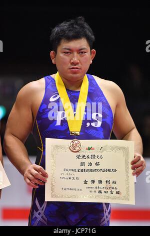 Nd Yoyogi Gymnasium, Tokio, Japan. 16. Juni 2017. セ、Katsutoshi Kanazawa, 16. Juni 2017 - Wrestling: Meiji Cup alle - Stockfoto
