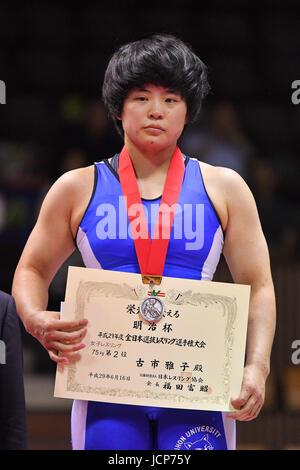 Nd Yoyogi Gymnasium, Tokio, Japan. 16. Juni 2017. 、 Masako Furuichi, 16. Juni 2017 - Wrestling: Meiji Cup alle Japan - Stockfoto