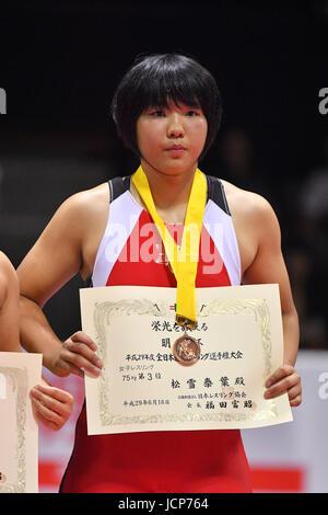 Nd Yoyogi Gymnasium, Tokio, Japan. 16. Juni 2017. セェー Yasuha Matsuyuki, 16. Juni 2017 - Wrestling: Meiji Cup alle - Stockfoto