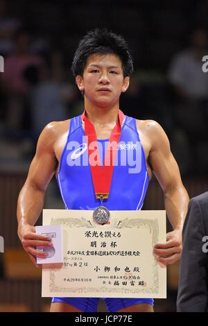 Nd Yoyogi Gymnasium, Tokio, Japan. 16. Juni 2017.  Kazuya Koyanagi, 16. Juni 2017 - Wrestling: Meiji Cup alle Japan - Stockfoto