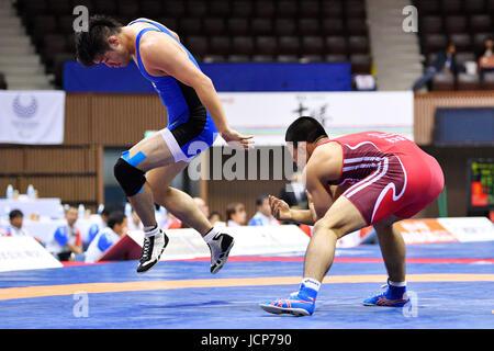 Nd Yoyogi Gymnasium, Tokio, Japan. 16. Juni 2017. (L-R) アッ/Yura Naito, アーョェ Shutaro Yamada, 16. Juni 2017 - Ringen: - Stockfoto